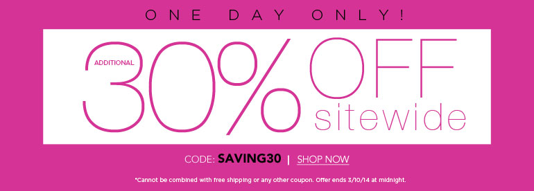 30% off 1 Day Sale