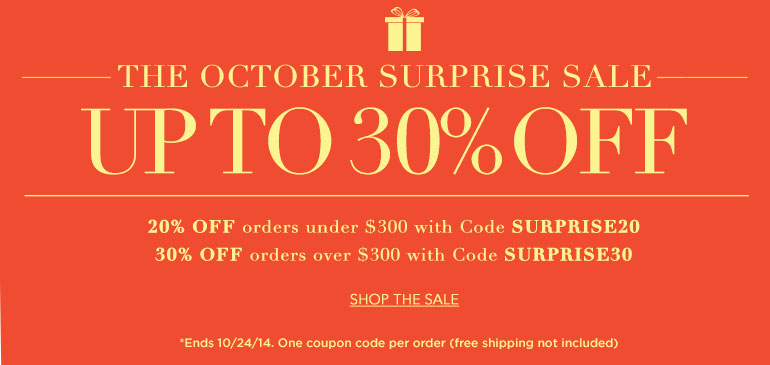 October Surprise Sale