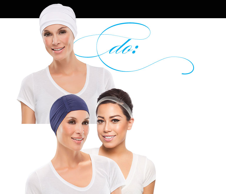 Summer Wig Tips: Wig accessories and summer hats are not only fun and trendy, but will help you protect your wig from the summer heat. Scarves are a cute alternative for capless wigs.