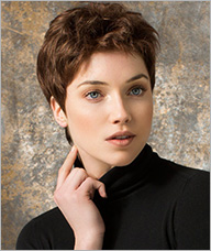 Short layered summer capless wig style -