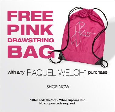 Free Pink Bag with Raquel Welch purchase