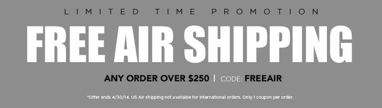 Free Air Shipping