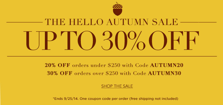 The Hello Autumn Sale