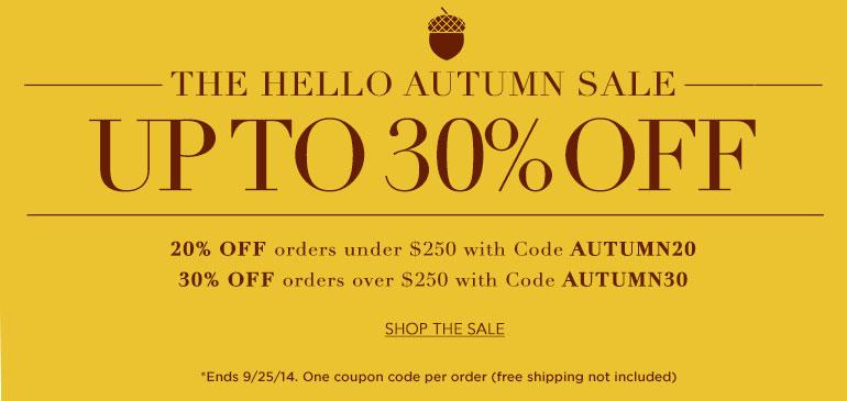 The Hello Autumn Sale