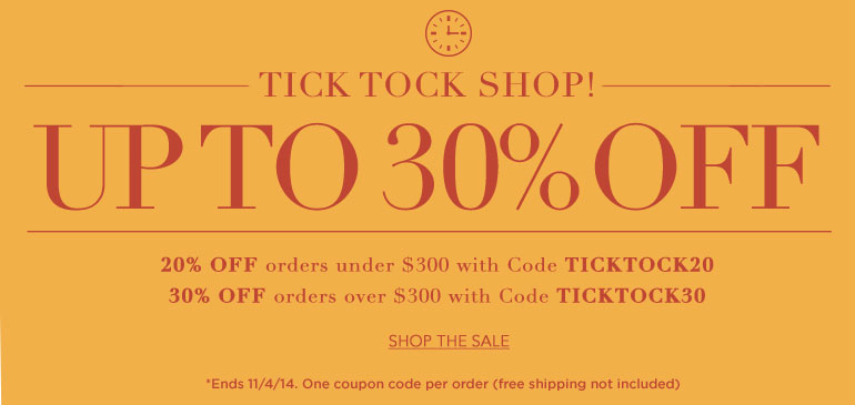 Tick Tock Shop Sale
