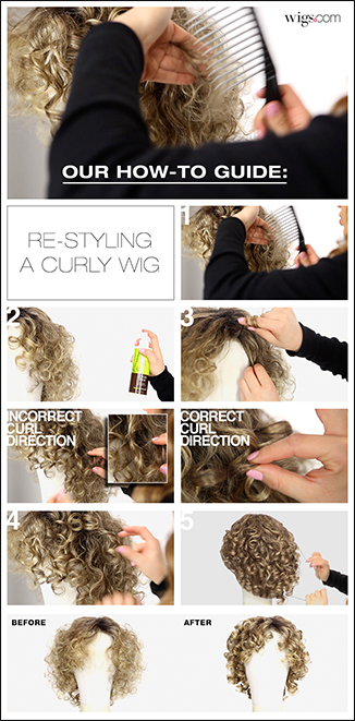 How to: RE-STYLING A CURLY WIG