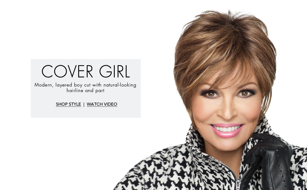 Raquel Welch Covergirl Lace Front - Monofilament Top, boy cut Wig