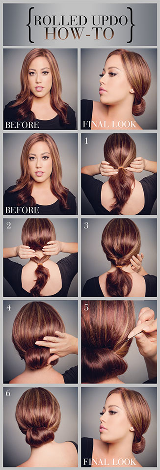 How to: ROLLED UPDO